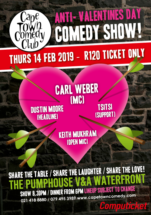 Anti Valentines Day Cape Town Comedy Clubcape Town Comedy Club